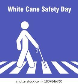 WHITE CANE DAY man cross