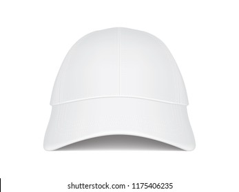 white cap on white background front view vector