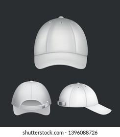white cap template design vector