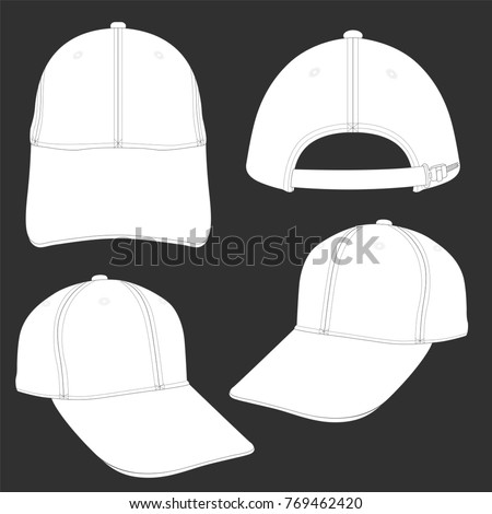 white cap template using fashion cloth のベクター画像素材