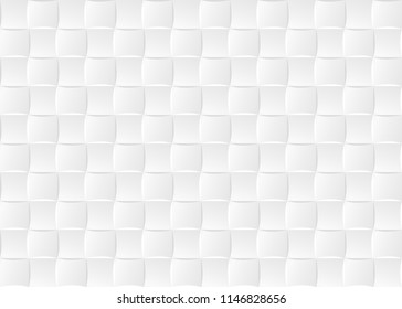 White Ceramic Tiles Seamless Texture Abstract Vector Background Checkered Pattern