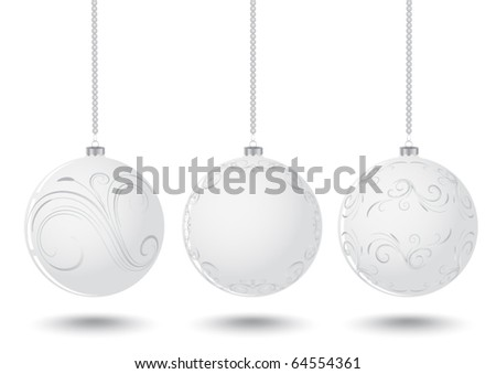 white christmas balls - White Christmas Balls