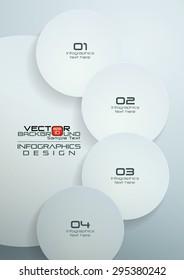 White Circles Infographics Design, Vector Illustration