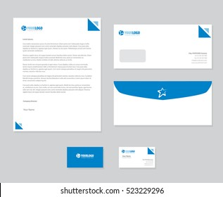 White classic corporate stationery template design