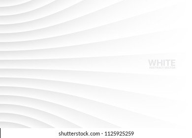 White Clear Blank Subtle Geometrical Vector Abstract Background. Light Colorless Empty Surface. 3D Conceptual Sci-Fi Technology Illustration. Minimalist Wallpaper