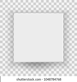 White closed box top and front view 3D cube isolated on transparent background for your design and logo. Realistic blank Package Cardboard Box For Software, device product. Vector illustration. EPS 10