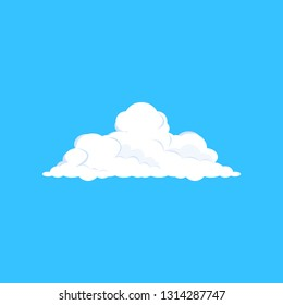 White cloud illustration. Blue sky, soft, summer. Weather concept. Vector illustration can be used for topics like climate, nature