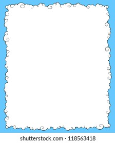 White clouds on a blue background vector illustration