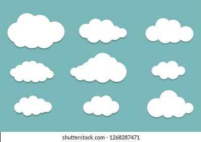 White Clouds Vector Illustration