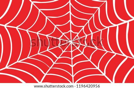 White Cobweb on Red