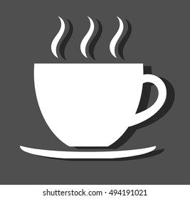 White coffee cup. Vector illustration