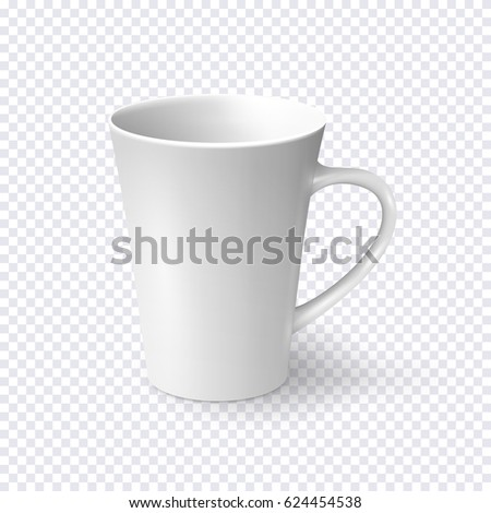 White Coffee Mug Isolated On Transparent Stock Vector (Royalty Free ...