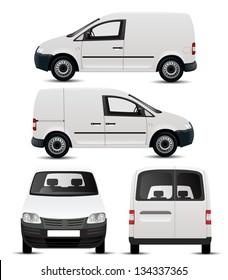 White Commercial Vehicle - Van