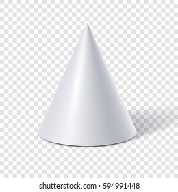 White cone isolated on transparent background