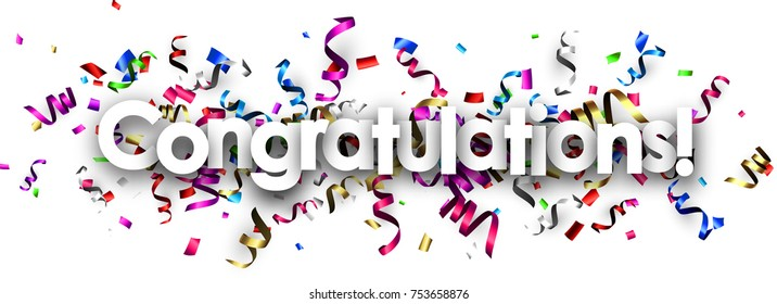 congratulations banner images stock photos vectors shutterstock