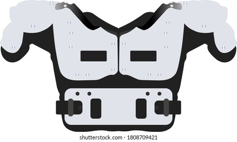 white CP Series PCQK Adult Football Shoulder Pads