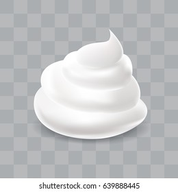 White cream. Realistic vector illustration.