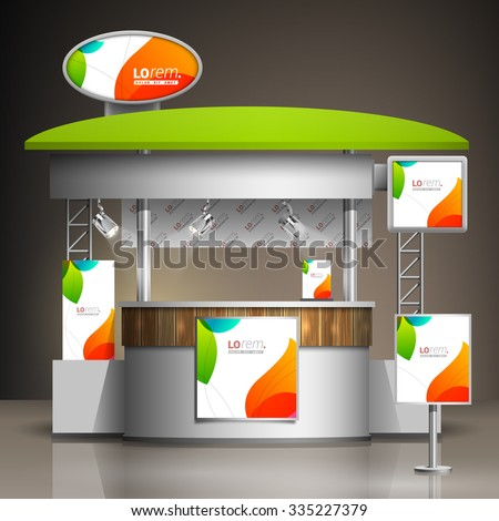 Small Exhibition Stand Vector : White creative exhibition stand design color stock vector royalty
