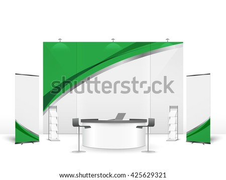 Exhibition Stall Sketch : White creative exhibition stand design booth stock vector royalty