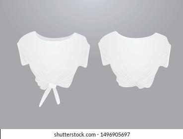 White crop top. vector illustration