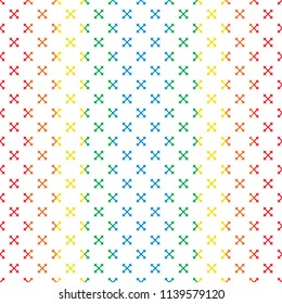 white cross line with color background pattern