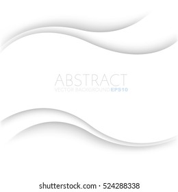White curve line background pink vector overlap paper layer with space for text and message design
