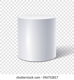 White cylinder isolated on transparent background