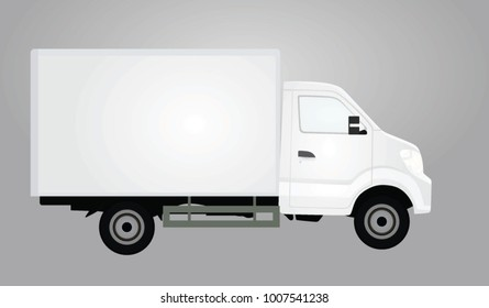 White delivery truck. vector illustration