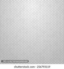 White Dense Hexagon Grid Vector Texture