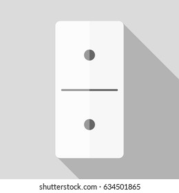 White domino icon in flat design style on white background. Domino sign.