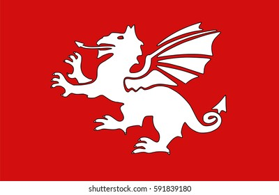 The white dragon is a symbol associated in Welsh mythology with the Anglo-saxons.