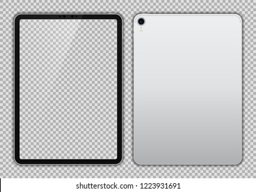 White Drawing Pad or Tablet Isolated.