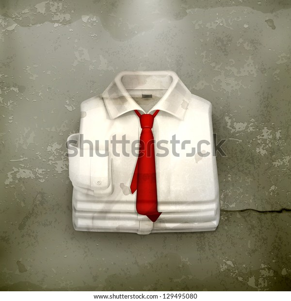 White Dress shirt, old-style vector