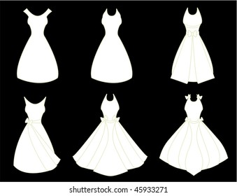 White dresses - vector version