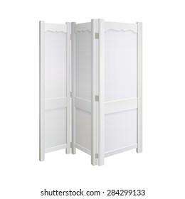 white dressing room screen