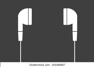 white earphones  vector