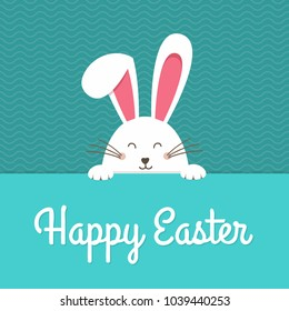 White easter rabbit. Easter Bunny. Happy Holidays.