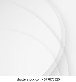 White elegant business background vector wave lines.