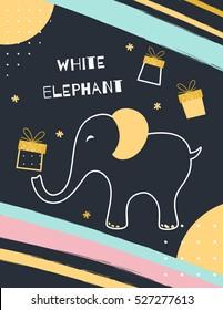 White Elephant Gift Exchange Game Poster.