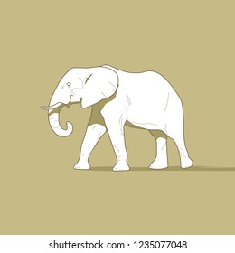 white elephant for a logo or a t-shirt print