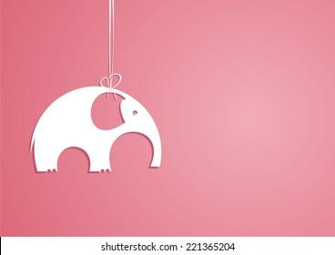 White elephant. Vector illustration.