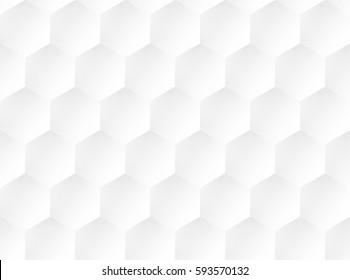 white embossed  honeycomb pattern