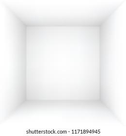white empty box or room, vector illustration