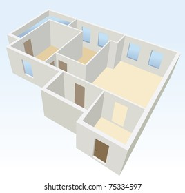 white empty flat planning vector