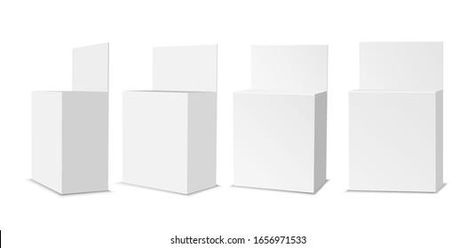 White empty plastic packaging. Blank sachet with hang slot