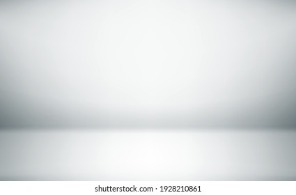 White empty room. Abstract background. Horizontal template for design