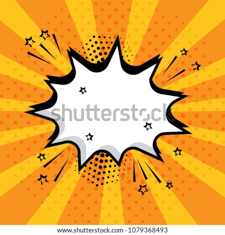 white empty speech comic bubble stars stock vector royalty free