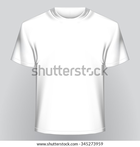 White Empty Tshirt On Gray Background Stock Vector Royalty Free