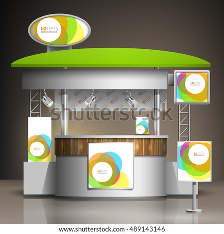 Exhibition Stand Circle : White exhibition stand design color round stock vector royalty