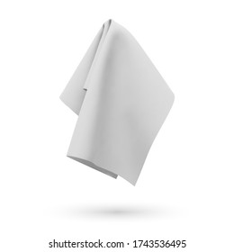 White fabric towel, handkerchief or tablecloth hanging